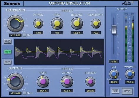 Sonnox Oxford Envolution Virtual Envelope Shaper Plugin Software, Native Version OXFORD-ENVOLUTION-NA