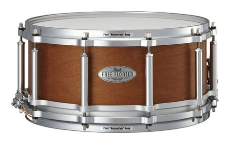 """Pearl Drums FTMMH1465322 Free Floating 14"""" x 6.5"""" Snare Drum with Satin Mahogany on Maple Finish FTMMH1465322"""
