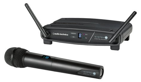 Audio-Technica ATW-1102 System 10 2.4 GHz Wireless Handheld Microphone Package ATW-1102