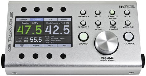 Grace Design m905 Reference Monitor Controller with Analog and Digital Inputs M905