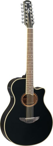 Yamaha APX700II-12-BLACK 12-String APX Series Guitar, Black Finish APX700II-12-BLACK