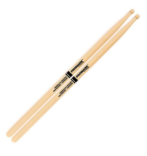 """Pro-Mark Hickory 5A """"Pro-Round"""" Wood Tip Drumsticks TXPR5AW"""