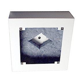 """Lowell CB84 8"""" 12.31 in Sq x 4 in Deep Backbox Surface Speaker, Steel CB84-LOWELL"""