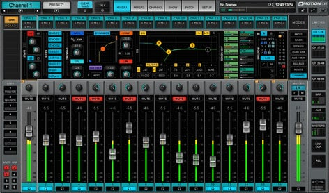 Waves eMotion LV1 16 D 16 Channel Live Mixer with Full eMO D5 Dynamics EMOTION-LV1-16-D