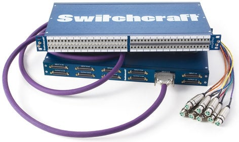Switchcraft StudioPatch 9625 TT Patchbay with 96 Patch Points to DB25 with Programmable Grounds 9625