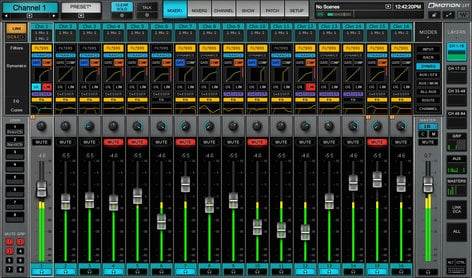 Waves eMotion LV1 MGO MADI Package 64-Channel Live Digital Mixing Software & Hardware Package with DiGiGrid MGO Interface and SoundGrid Extreme Server EMOTION-MADI-MGO