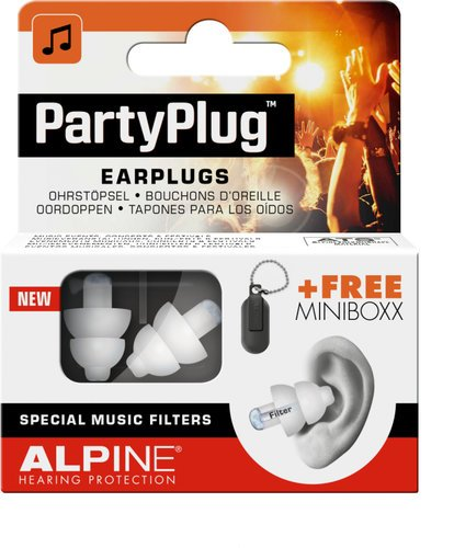 Alpine Hearing Protection PartyPlug Single Pair of Filtered Earplugs PARTY-PLUG