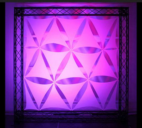 """Odyssey SWDT19WHT  19"""" Scrim Werks Triangle Decore Panels SWDT19WHT"""