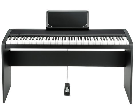 korg b1sp 88 key digital piano with weighted hammer action stand and triple pedal unit full. Black Bedroom Furniture Sets. Home Design Ideas