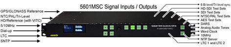 Evertz 5601MSC+2PS+GP+M+3GT Master Synch and Clock Generator Broadcaster 5601MSC+2PS+GP+M+3GT