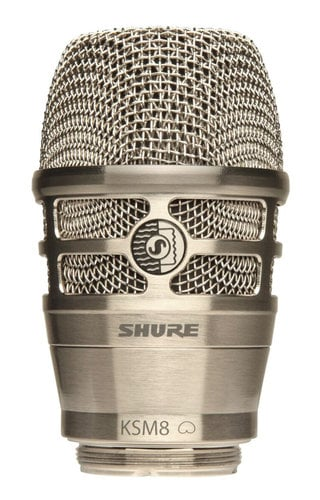Shure RPW170 KSM8 Capsule in Brushed Nickel for Shure Wireless Handheld Transmitters RPW170
