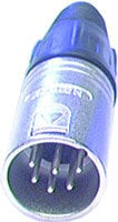 Neutrik NC6MX 6-pin XLR Male Cable Connector, Nickel NC6MX