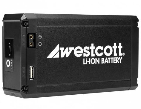 Westcott Portable Battery Rechargeable 10.4h Lithium Ion Battery 7424