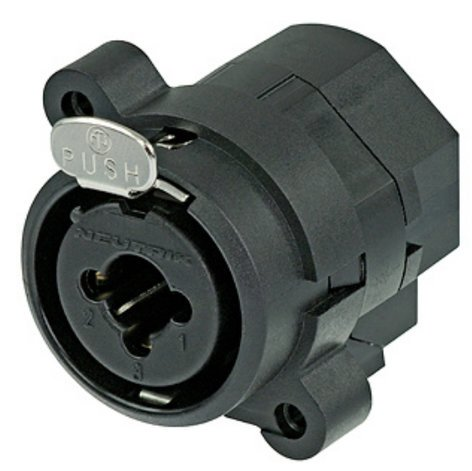 "Neutrik NCJ5FI-V Combo 1/4"" Mono / 3 Pin XLR Female Receptacle with Stereo Switching Jack and Vertical PCB Mount NCJ5FI-V"