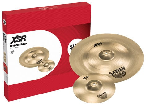 "Sabian XSR5005EB XSR Effects Pack Cymbal Pack with 10"" XSR Splash, 18"" XSR Chinese XSR5005EB"
