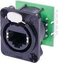 Neutrik NE8FDV-Y110-B RJ45 Ethercon IDC 110 Punch Down Terminal, Black NE8FDV-Y110-B