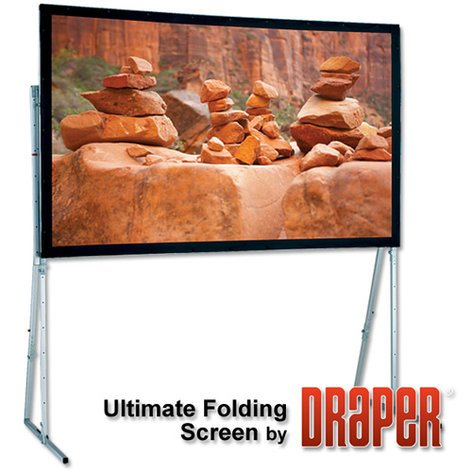 Draper Shade and Screen Cinefold Rear Projection Screen Ultimate Portable 83'x144' 241184