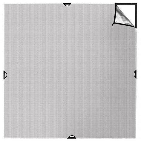 Westcott 1785 Scrim Jim® Cine 8' x 8' Silver/White Bounce Fabric 1785