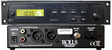 Rolls HR78X Digital Tuner AM/FM with  XLR Outputs HR78X