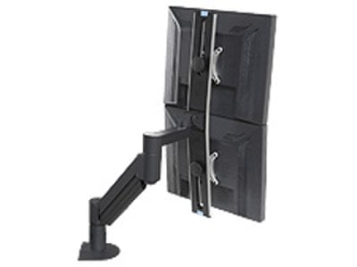 Argosy Consoles MONITOR-ARM-DS-D2W-B Dual Monitor Arm, Black, for Monitors That Are 9 - 21 lbs MONITOR-ARM-DS-D2W-B