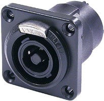 Neutrik NLT4FP-BAG  4-pin Male Speakon Chassis Connector, Black NLT4FP-BAG