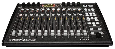 Sound Devices CL-12 ALAIA RED Linear Fader Controller for the 688 Mixer/Recorder in Red Mahogany Finish CL-12-ALAIA-RED