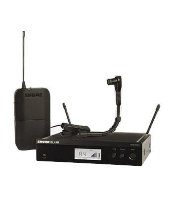 Shure BLX14R/B98-H10 Instrument Wireless System, 542 To 572 MHz, Black BLX14R/B98-H10