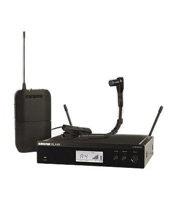 Shure BLX14R/B98-H10 Instrument Wireless System, 542 To 572 MHz, Black BLX14R/B98-H10
