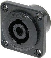 Neutrik NLT4MP-BAG  4-pin Male Speakon Chassis Connector, Black NLT4MP-BAG