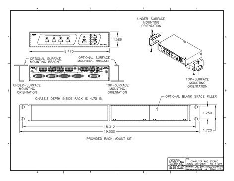 FSR, Inc RN-410PA  4x1 HD-15 RGBHV Audio Video Switcher RN-410PA