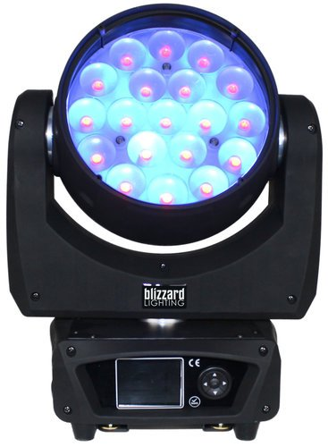 Blizzard STILETTO-GLO19 Stiletto GLO19 19x 15W RGBW LED Moving Wash Light with Pixel Control STILETTO-GLO19