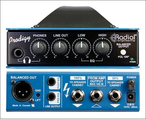 Radial Engineering HEADLOAD-PRODIGY Load Box And DI Combination With Headphone Amplifier HEADLOAD-PRODIGY