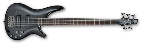 Ibanez SR405EQM 5-String Bass Guitar, 24-Fret, Rosewood Fretboard with White Dot Inlay SR405EQM