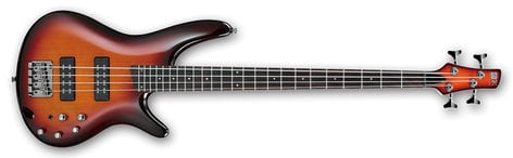 Ibanez SR370E 4-String Bass Guitar, 24-Fret, Rosewood Fretboard with White Dot Inlay SR370E