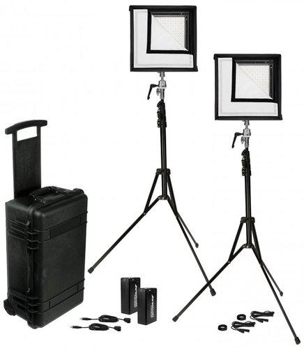 Westcott 7555 Flex 1' x 1' Daylight 2-Light Cine Travel Kit 7555