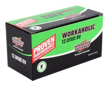 Interstate Battery Workaholic 9V Batteries 12-pack DRY0196-12PACK
