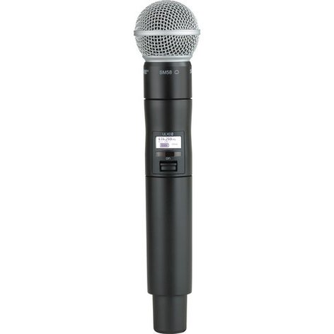 Shure ULXD2/SM58-X52 Digital Handheld Wireless Transmitter with SM58 Microphone Capsule, 902 To 928 MHz ULXD2/SM58-X52