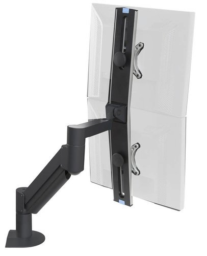 Argosy Consoles WING Dual Monitor Arm Black Monitor Arm  for Monitors 3.5 - 13.5 lb ea MONITOR-ARM-DS-D1W-B