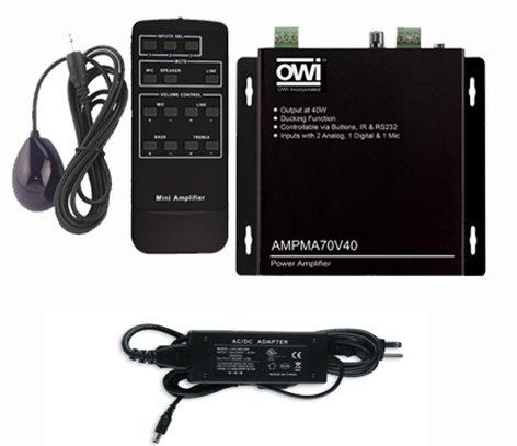 OWI Incorporated AMPMA70V40  Power Amplifier, 40W, 70V Or 100V AMPMA70V40