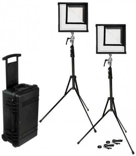 Westcott 7552 Flex 1' x 1' Bi-Color 2-Light Cine Studio Lighting Kit 7552