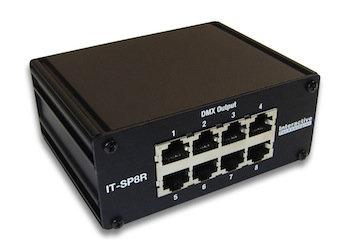 Interactive Technologies RJ45 Splitter DMX  8 Port Splitter IT-SP8R