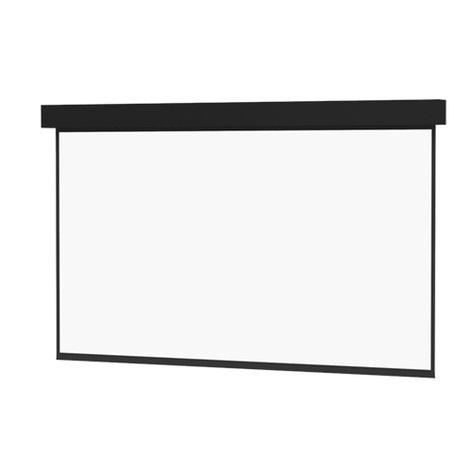 "Da-Lite Professional Electrol 92"" x 164"" Projector Screen in Matte White 99778"