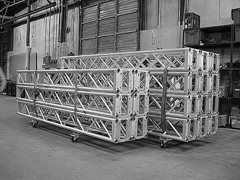 "The Light Source MTDGLOBAL11.4375/2 Mega-Truss Dolly for (2) 11.437"" Global Truss Segments, Silver MTDGLOBAL11.4375/2"
