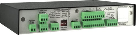 FSR, Inc IT-AS411  4 x 1 Audio Switcher  with Voice Lift Mixing IT-AS411