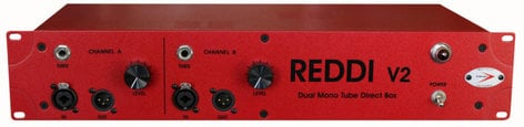 A-Designs REDDI-v2 2RU Rackmount 2-Channel Tube Direct Box REDDI-V2