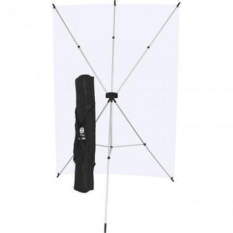 Westcott X-Drop Kit with 5' x 7' Neutral Gray Backdrop 620K