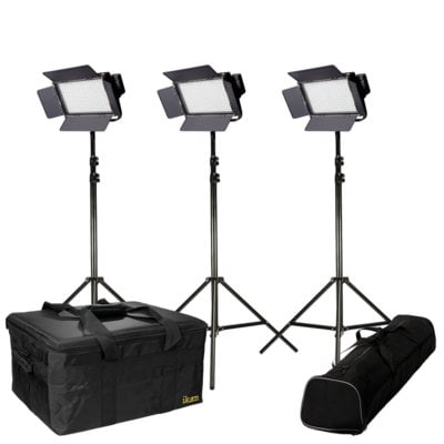 ikan Corporation 3-Point LED LIght Kit IFD76 with AB and V-Mount Plates IFD576-KIT