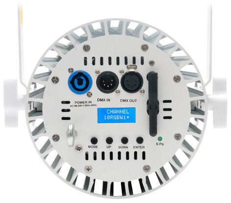 Elation COLOUR-PENDANT-WHT 110W RGBW LED Wash with Onboard E-Fly Transceiver in White COLOUR-PENDANT-WHT