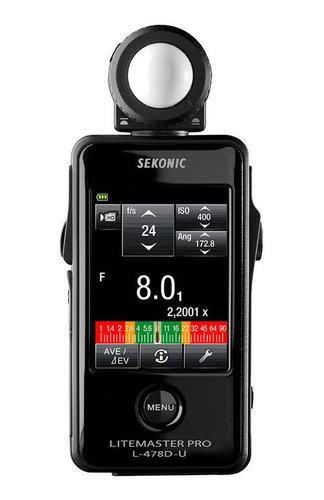 Sekonic LiteMaster Pro L-478D Digital Exposure Meter for Ambient and Flash Light 401-474