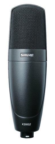 Shure KSM32 Cardioid Condenser Microphone in Charcoal Gray Finish KSM32/CG